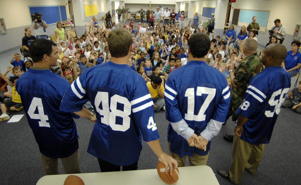 Indianapolis Colts visit Randolph Air Force Base