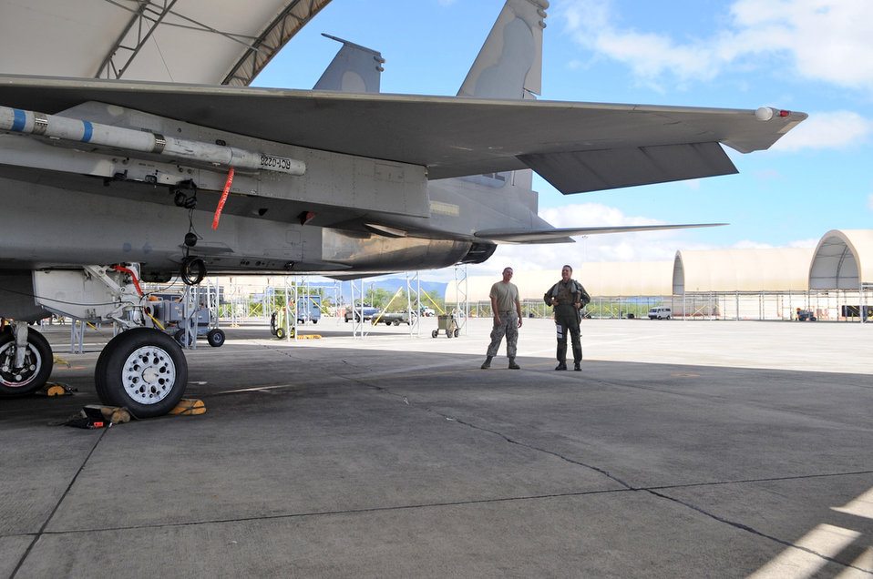 Final Training Mission for F-15 at Hickam