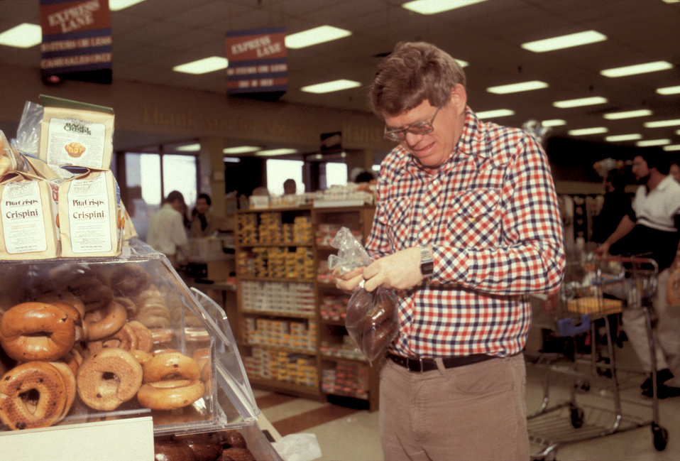 This cognitively-impaired man was photographed while in the process of shopping for groceries in this retail store. In this particular image