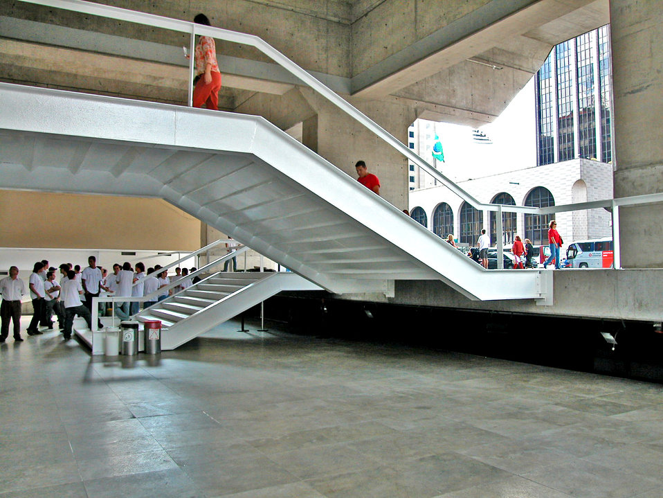 As was depicted in PHIL# 9046, the configuration of this stairway system allowed for the possibility of visually-impaired, or non-impaired i