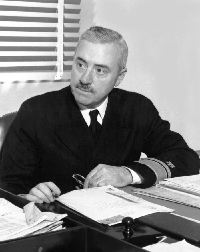 This is a photograph of Thomas Parran, Jr., M.D.  Dr. Parran was the United States Surgeon General from 1936 to 1948.