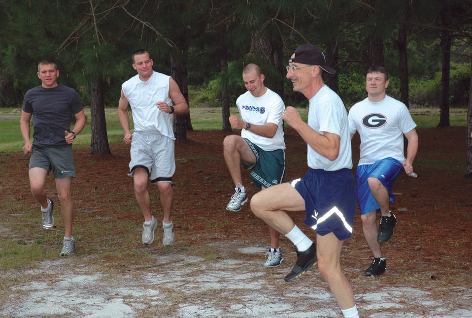 66-year-old officer aces annual fitness test