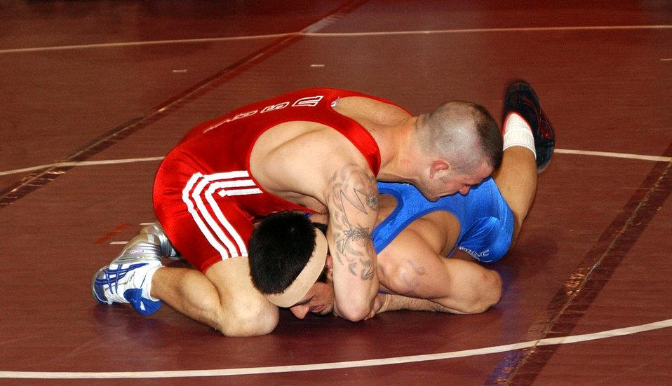 Airmen earn silver, bronze in wrestling championship