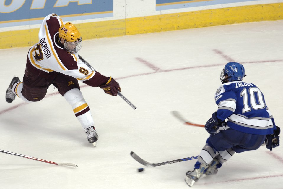 Gophers ground Falcons season during third period rally