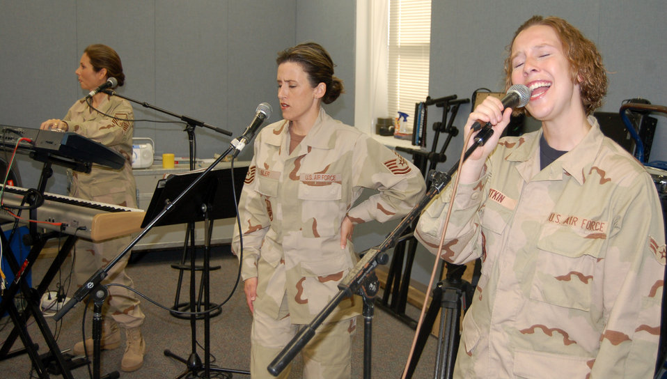 AF band targets forward bases for morale shows