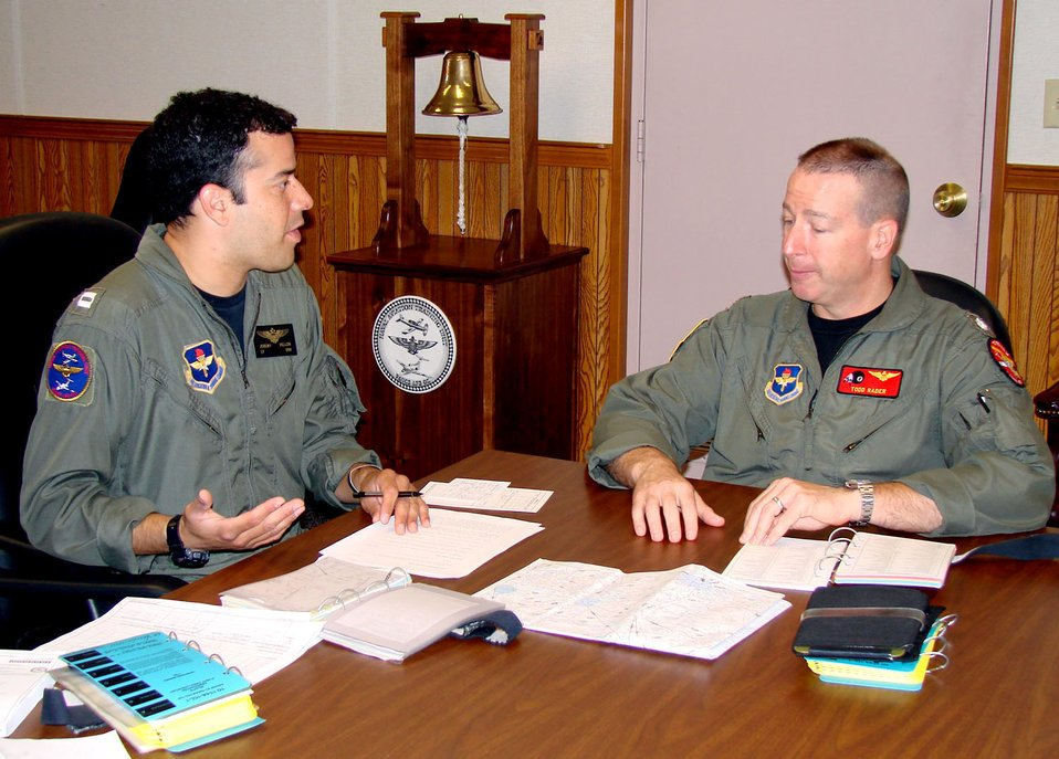 Navy officer leads AF squadron, celebrates Navy birthday