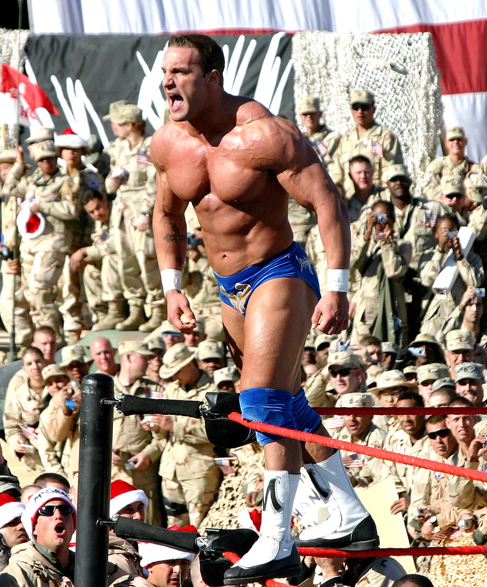 Wrestlers end tribute to troops tour
