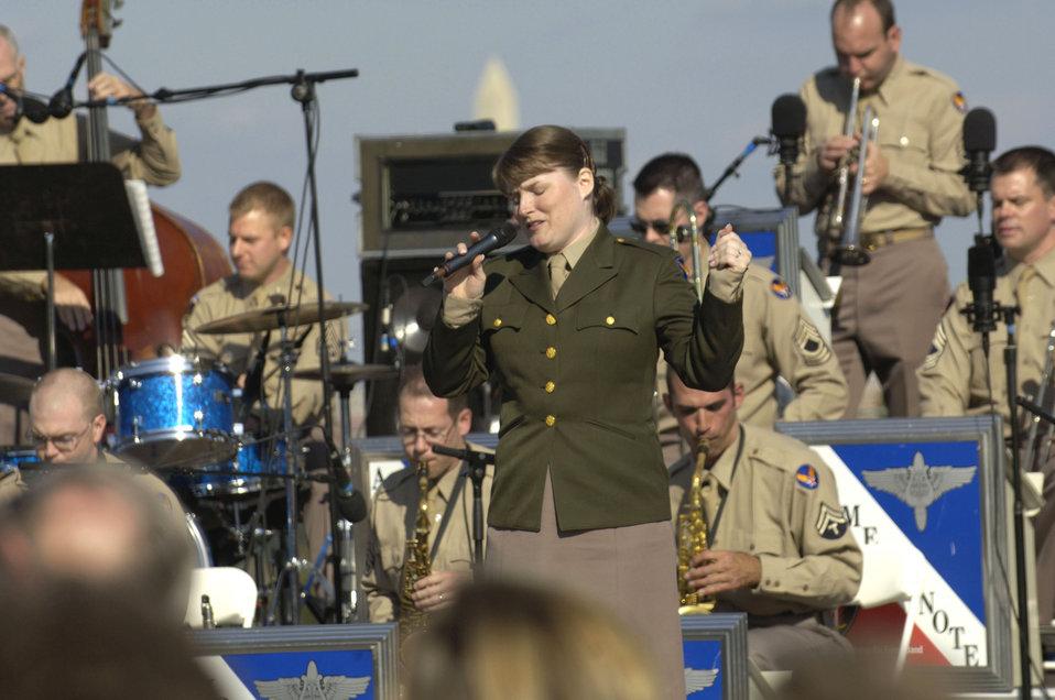 Airmen of Note at memorial