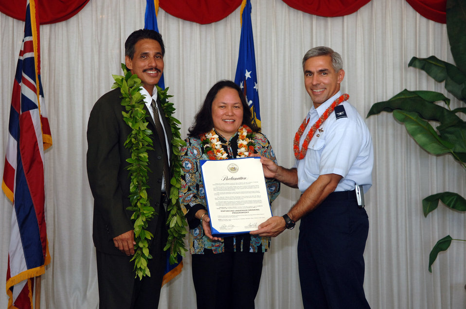 Hickam AFB, community combat underage drinking