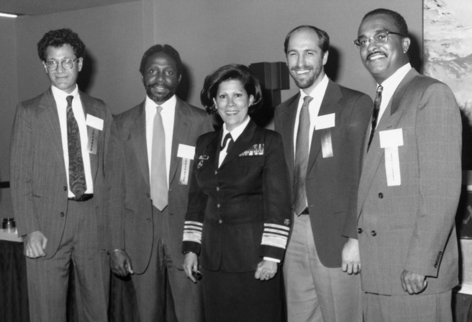 This photograph shows U.S. Surgeon General, Antonia C. Novello (center) while she attended the Centers for Disease Control during the Moreho