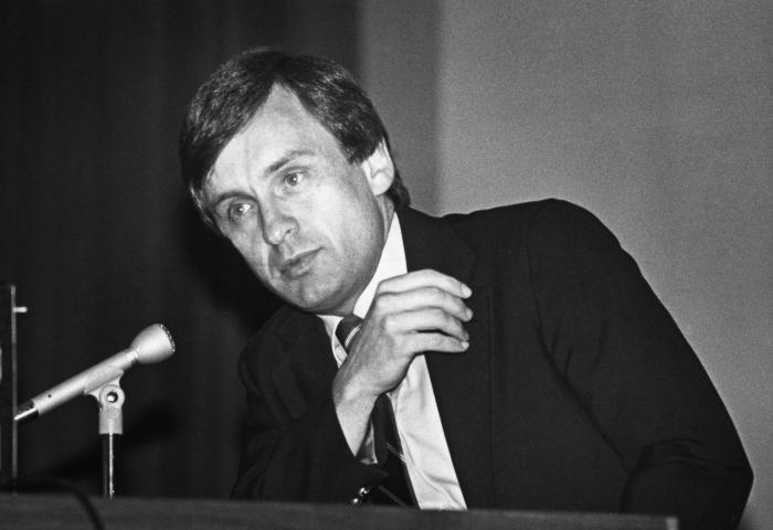 This 1986 photograph showed James W. Curran, M.D., M.P.H., formerly, the Centers for Disease Control's Director of the Acquired Immunodefici