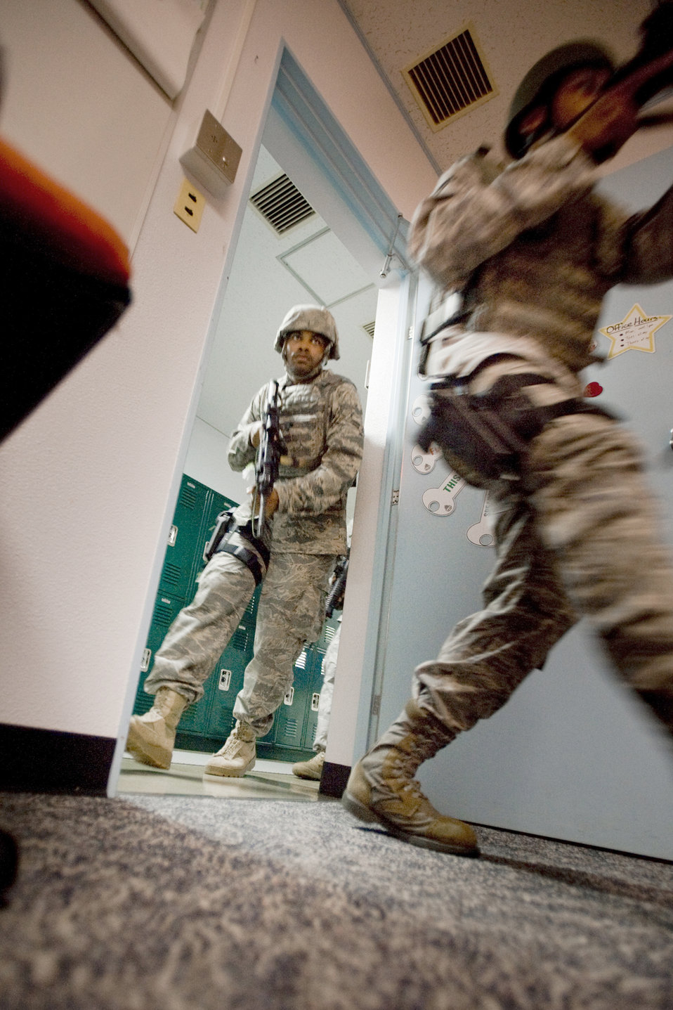 Security forces Airmen, Sailors learn new active shooter techniques