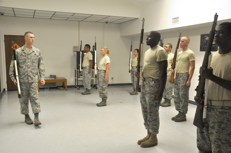USAF Honor Guard visits Tyndall AFB