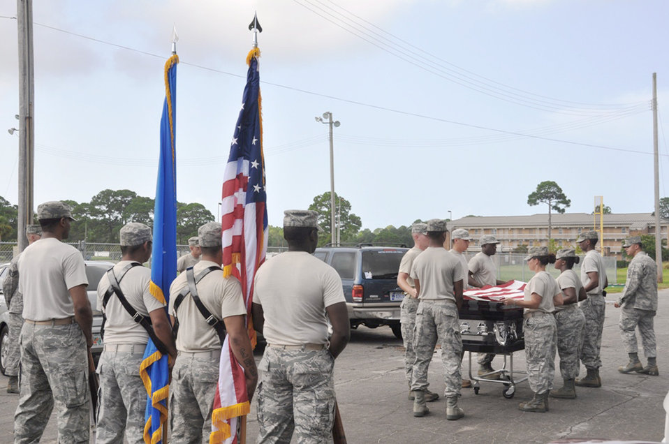 USAF Honor Guard visits Tyndall AFB