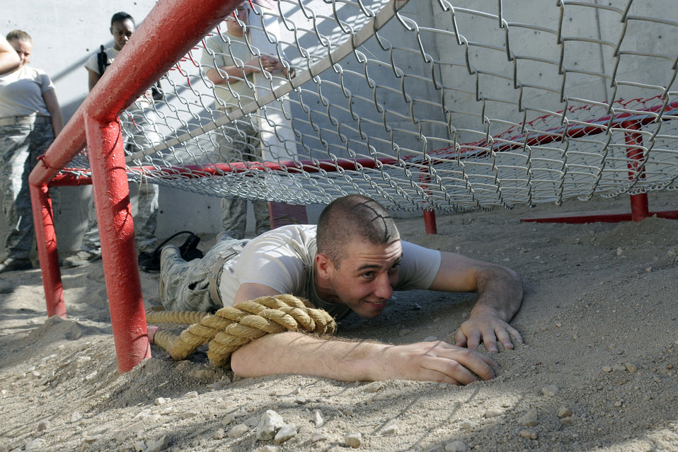 Cadets learn essential skills in Leadership Reaction Obstacle Course