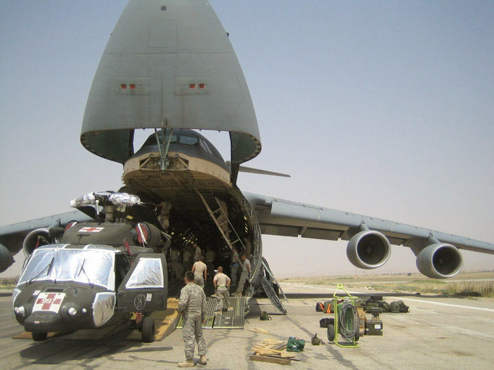 C-5s support Afghanistan troop surge