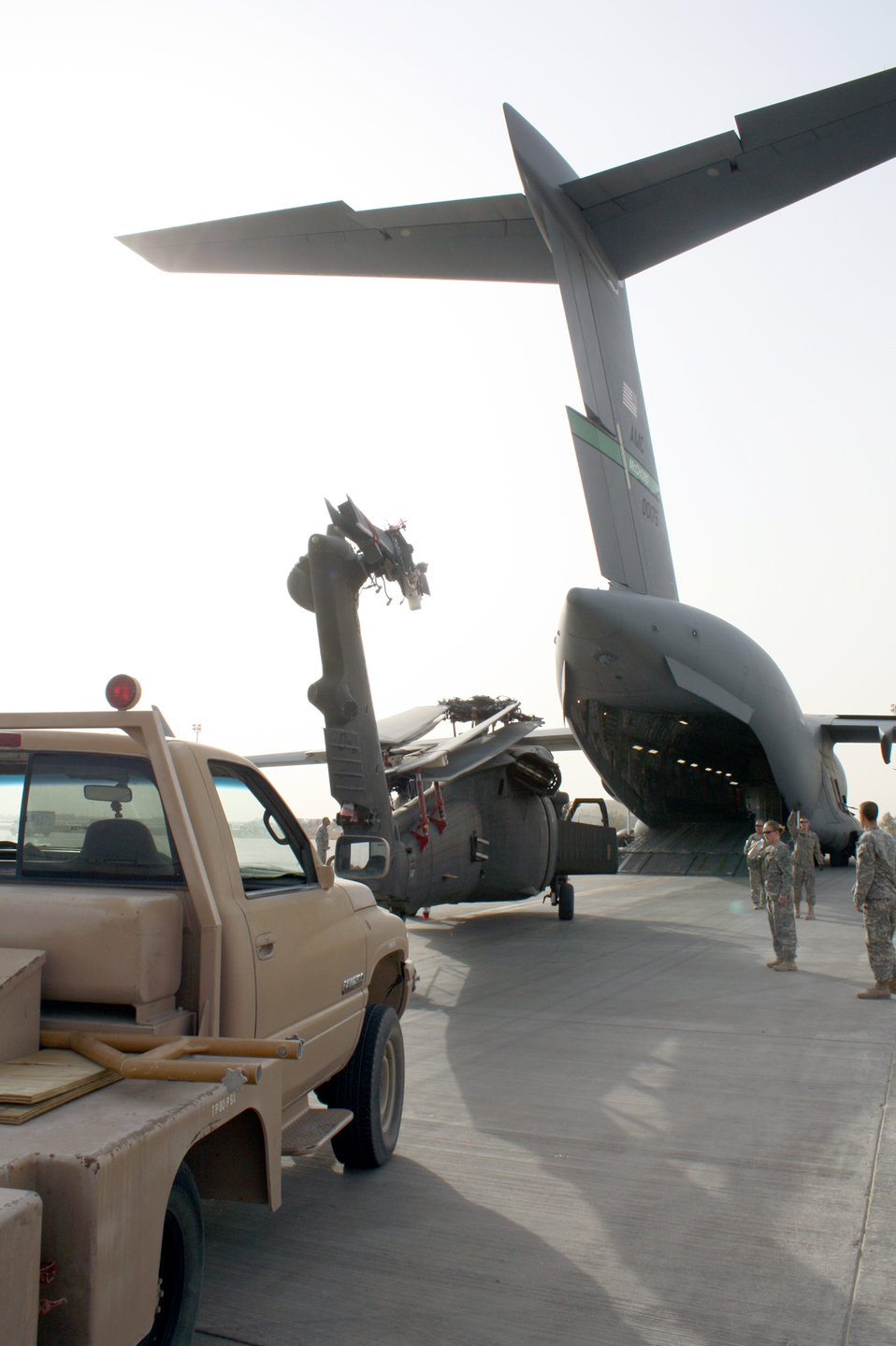 Balad Airmen move helicopters