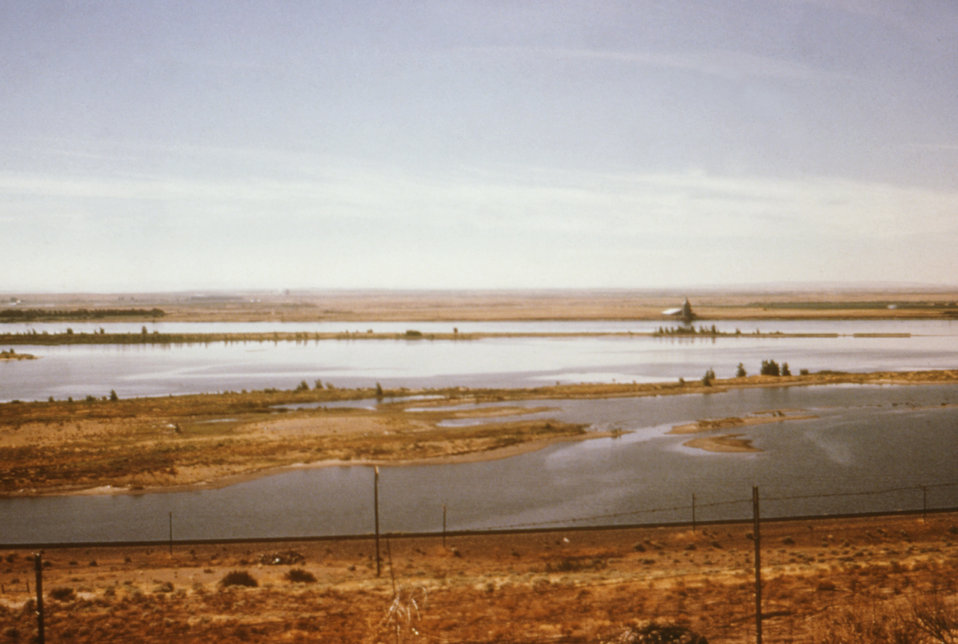 This 1976 photograph was taken while overlooking the Umatilla Wildlife Refuge in Oregon.