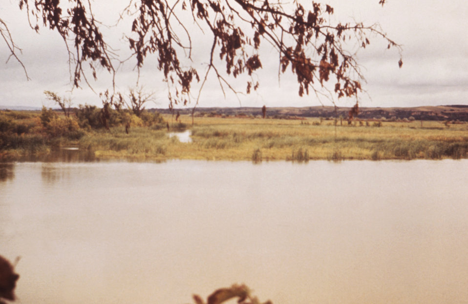 This 1976 photograph shows the marshes surrounding Lewis and Clark Lake in Nebraska.