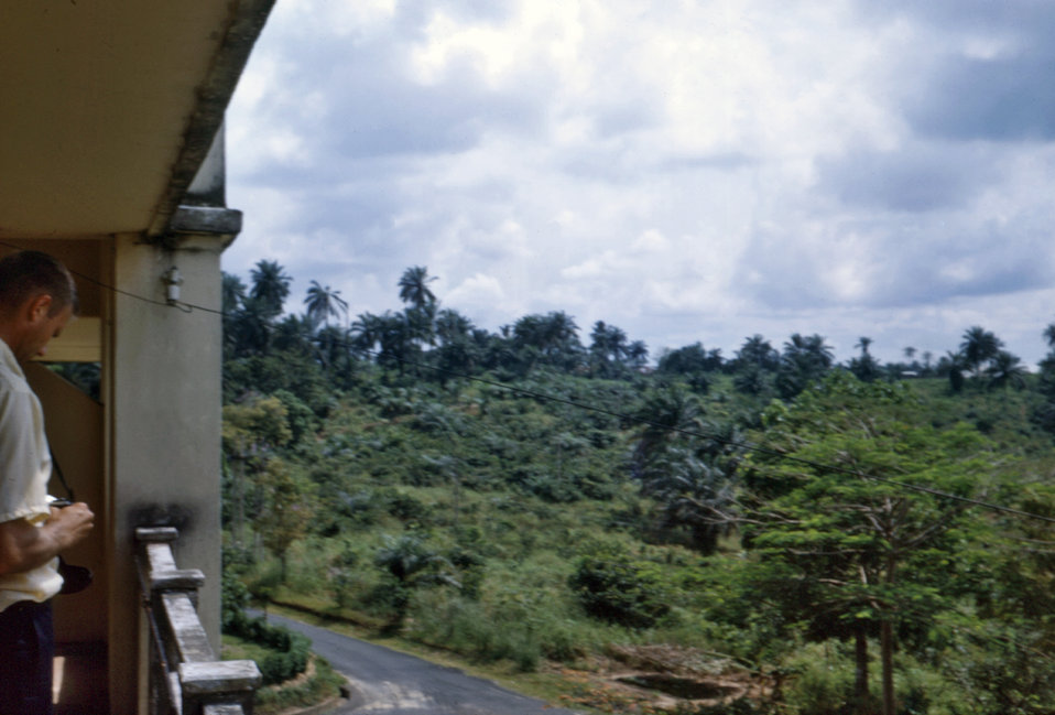 This 1968 photograph shows the landscape of southeastern Nigeria during the Biafran civil war.
