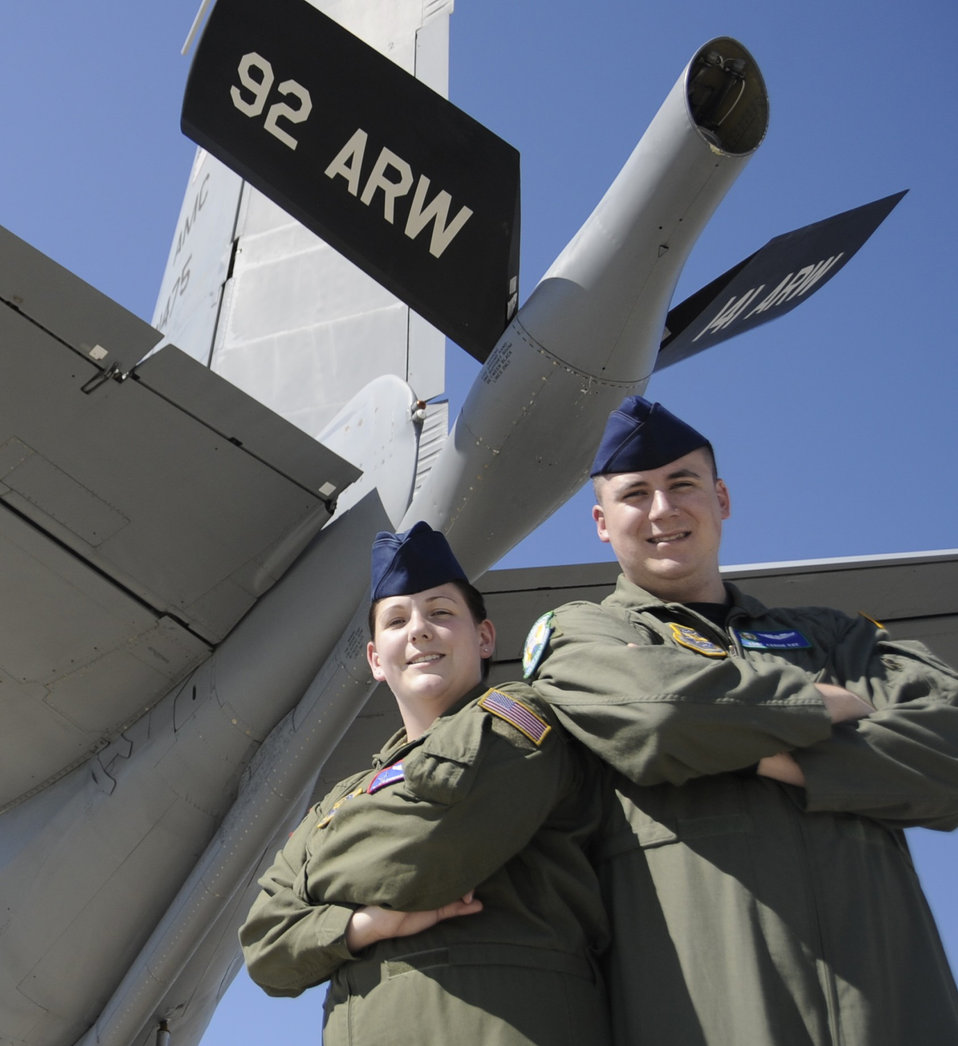 Fairchild couple make refueling a family affair