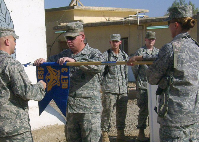 Airmen shut down 732nd ESFS Det. 3
