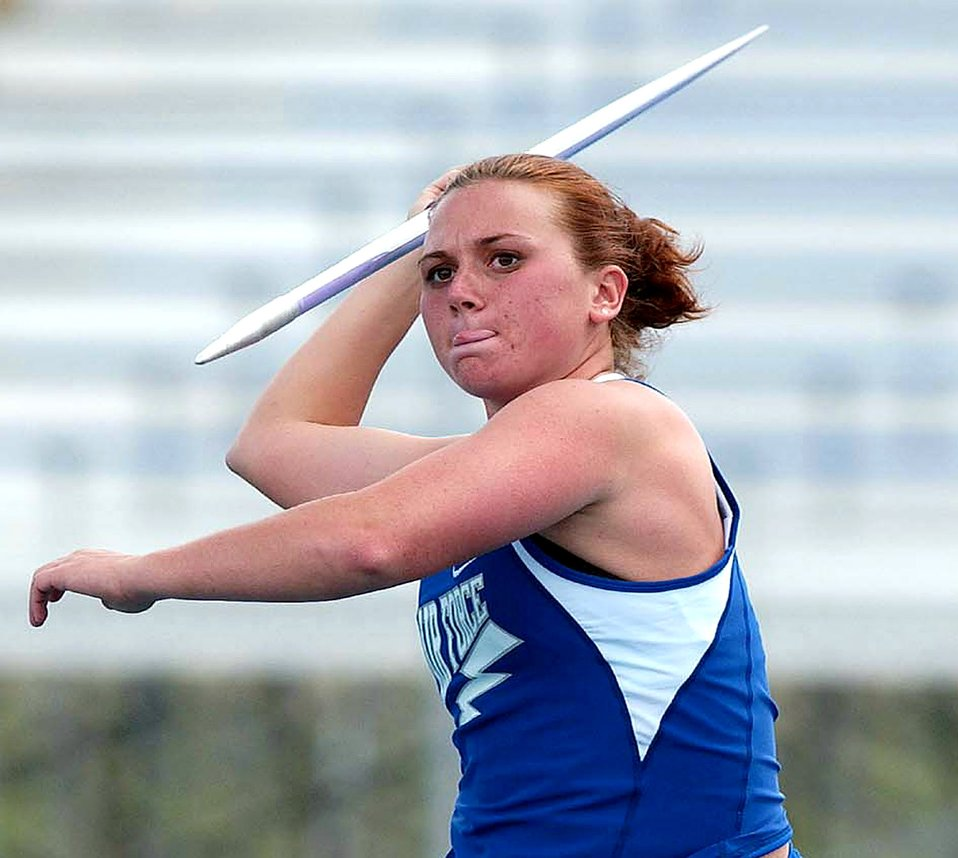 Pounds wins second NCAA javelin title