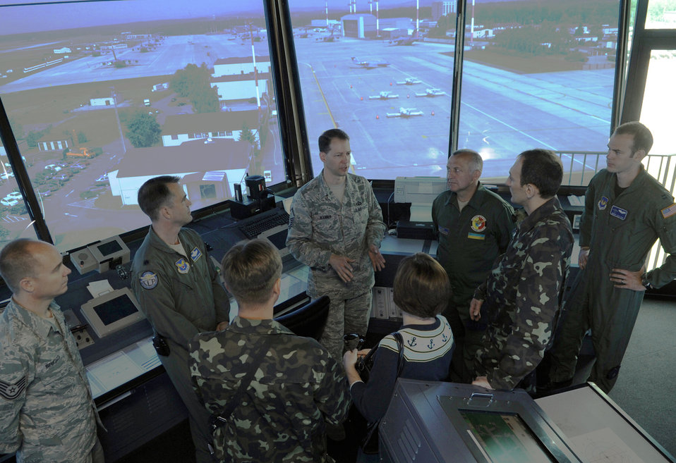 Ukrainian Airmen visit Ramstein