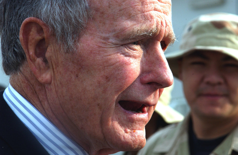 Former president visits Airmen