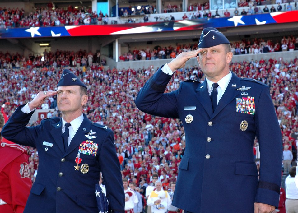 Colonel receives Bronze Star during Alabama-Auburn game