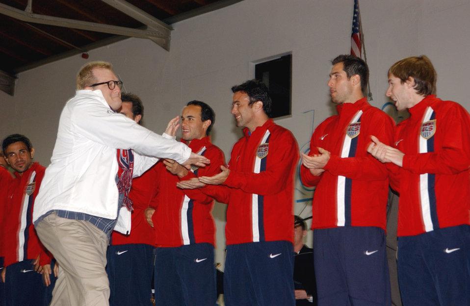 U.S. Men's National Soccer Team at Ramstein