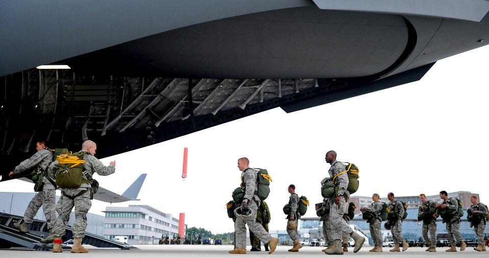 Ramstein Airmen participate in NATO jump