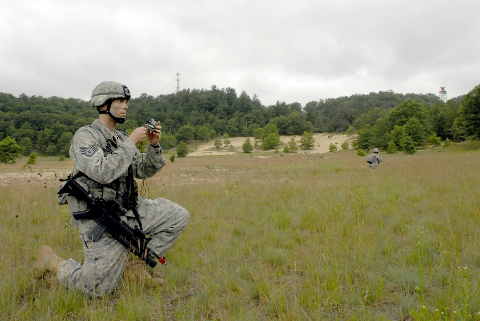 Security forces land navigation exercise