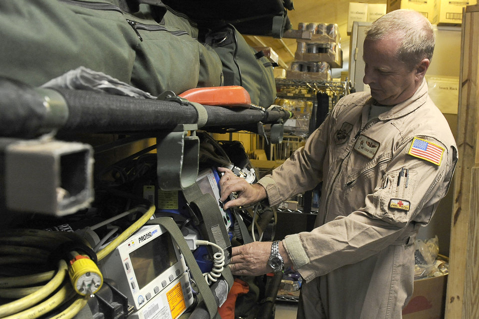 Contingency aeromedical staging facility Airmen get wounded warriors home