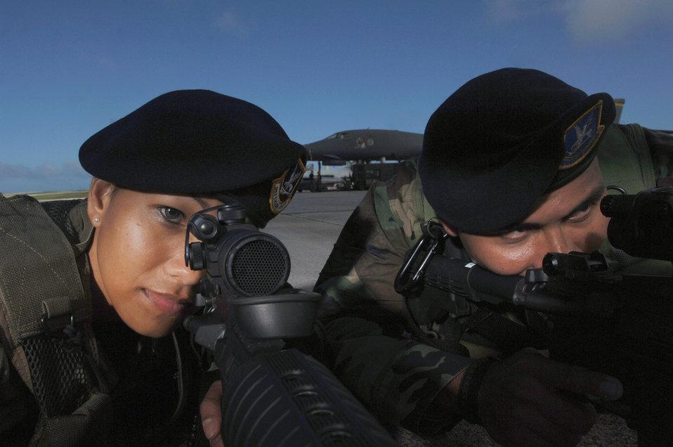 Airman patrol