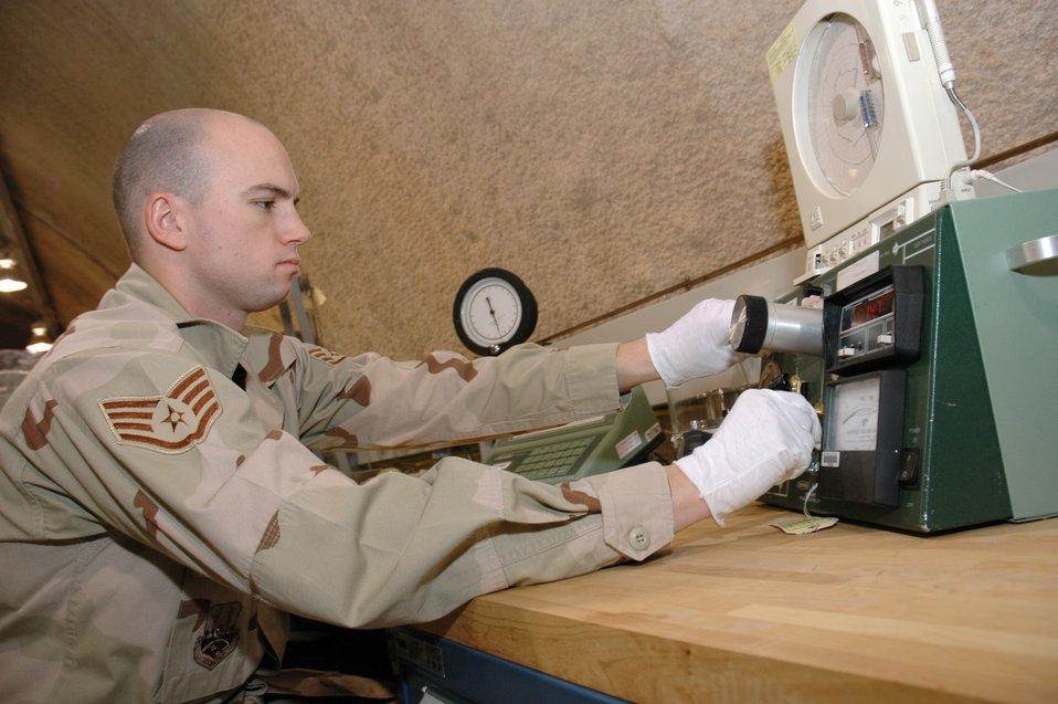 PMEL Airmen ensure equipment is serviceable