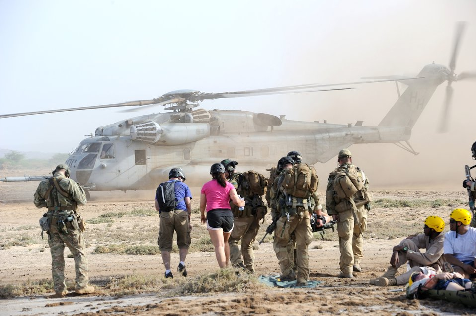 Airmen participate in African rescue exercise