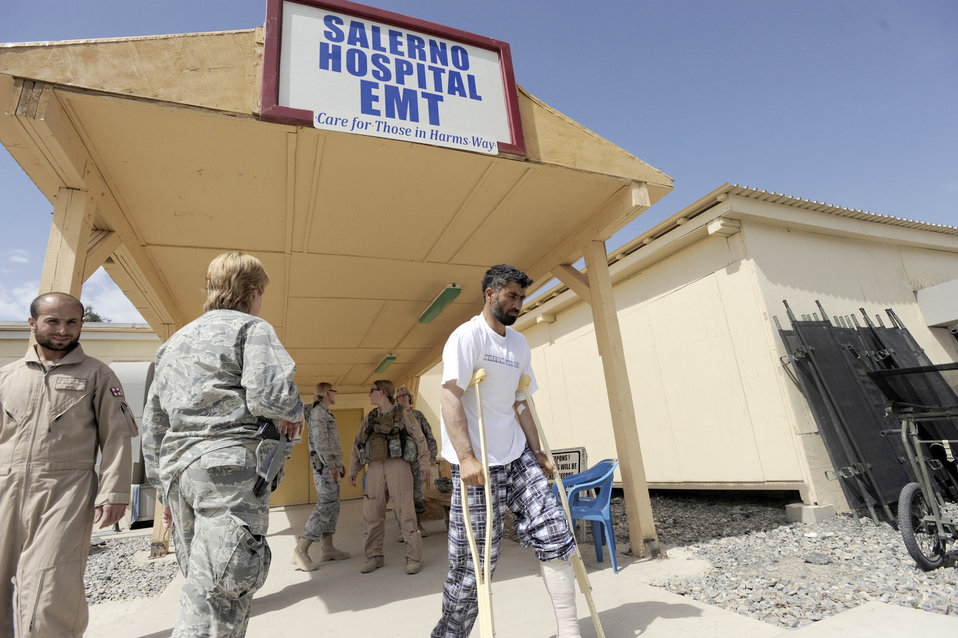Joint hospital staff cares for warfighters, Afghans