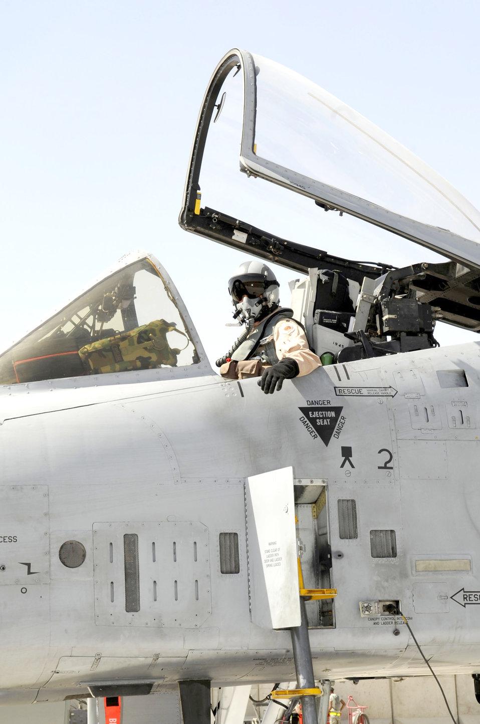 A-10 Thunderbolt II post-flight check