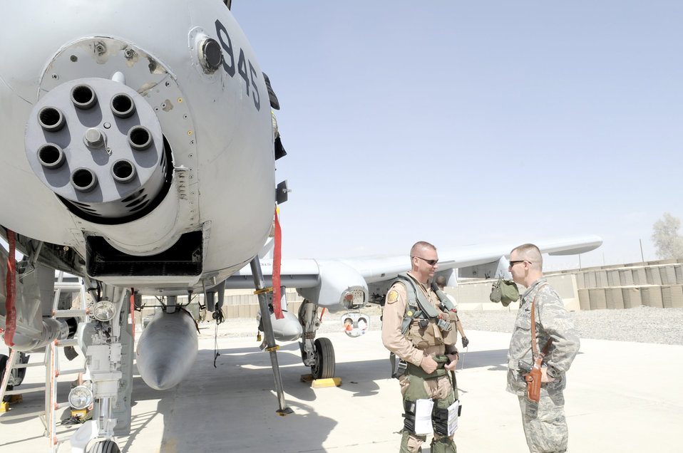A-10 Thunderbolt II post-flight check