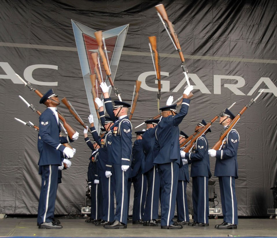 Honor Guard Drill Team keeping sharp for Air Force