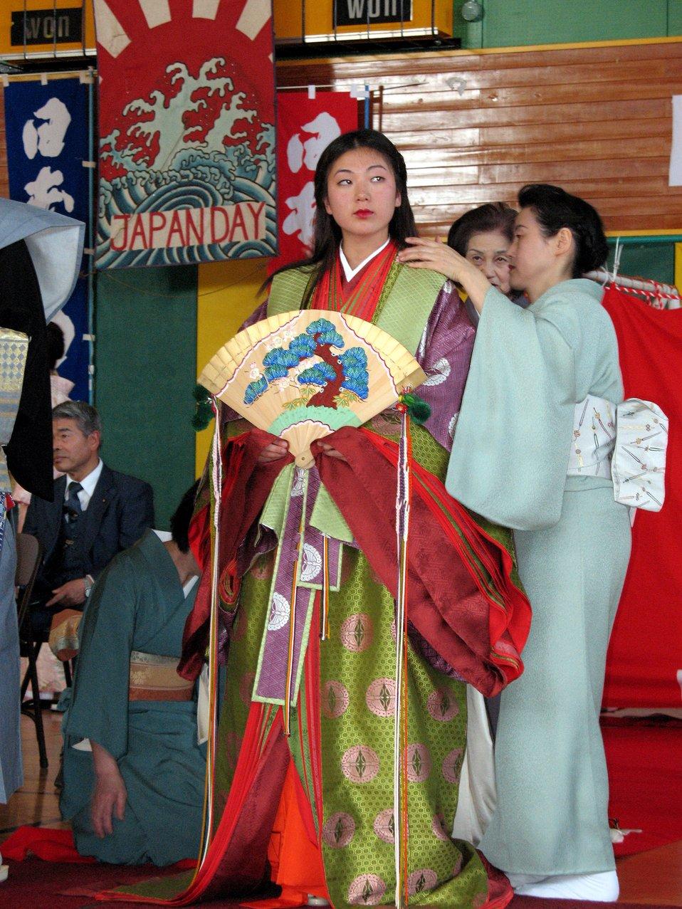 Airman celebrates base's Japan Day