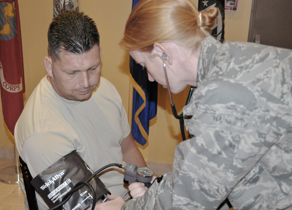 Airmen salute nurses, medical  technicans