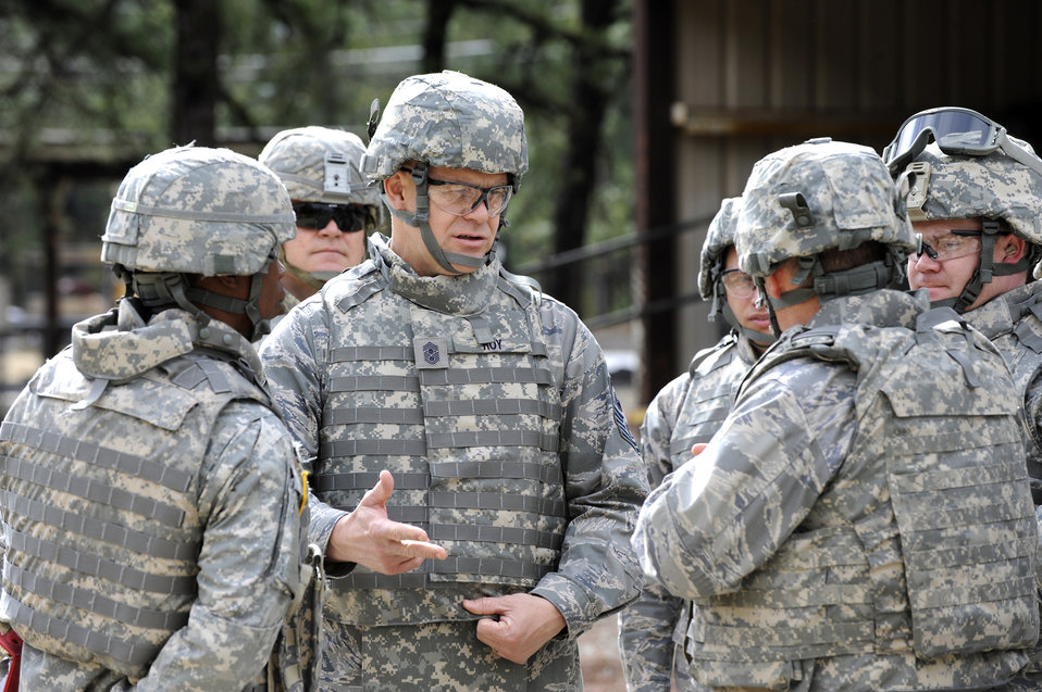 Senior leader experiences pre-deployment training