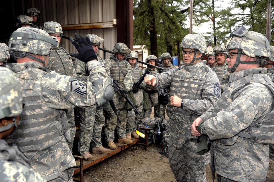 Senior leader experiences pre-deployment training