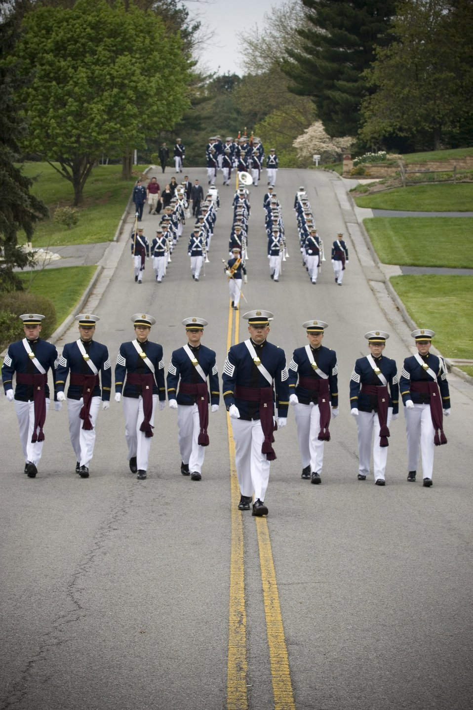 Virginia Tech corps of cadets pay honors to one of their own