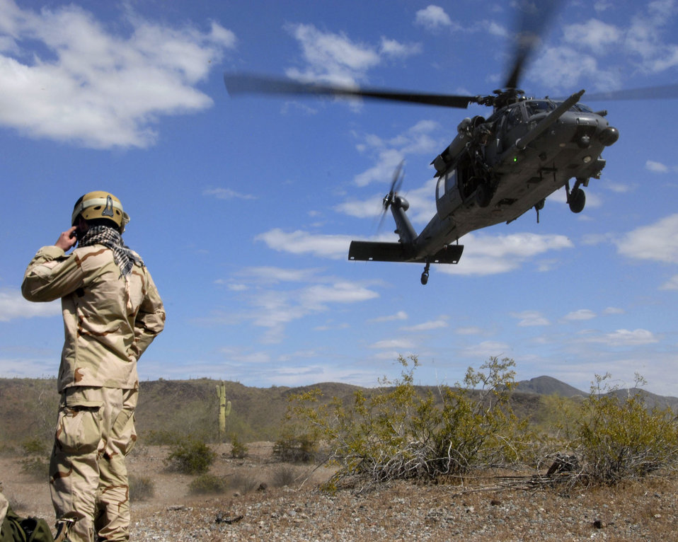 Airmen train on combat search, rescue missions