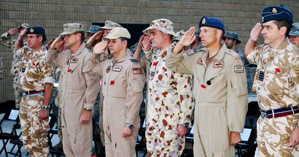 Coalition airmen observe day of remembrance