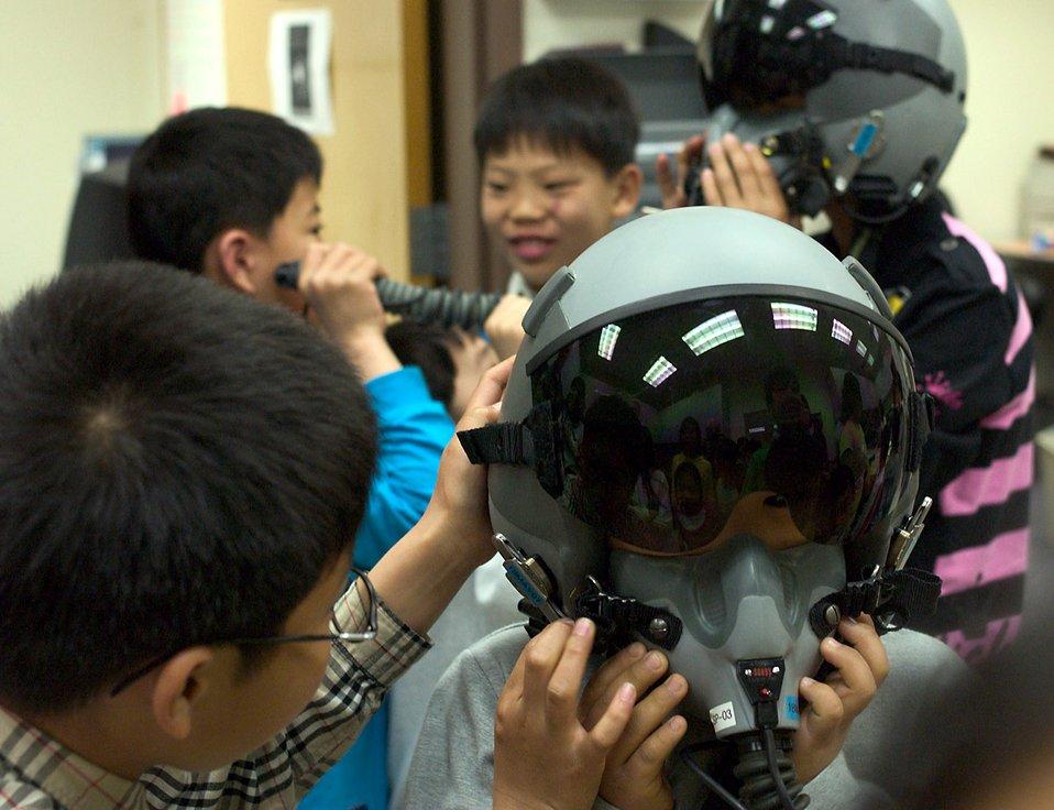 Korean orphans visit Kunsan Airmen