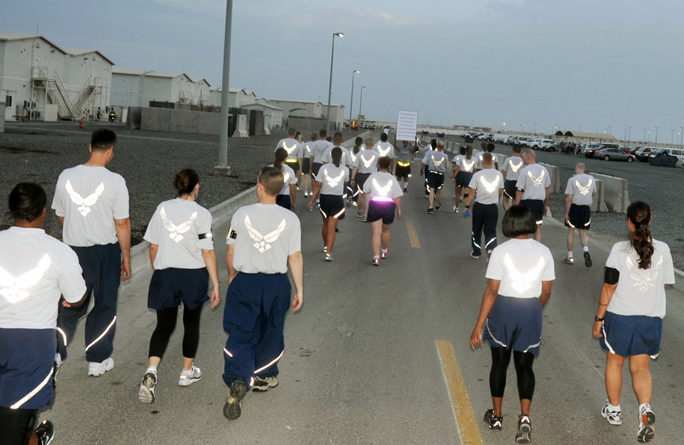 Deployed wing holds walking event observing Sexual Assault Awareness Month